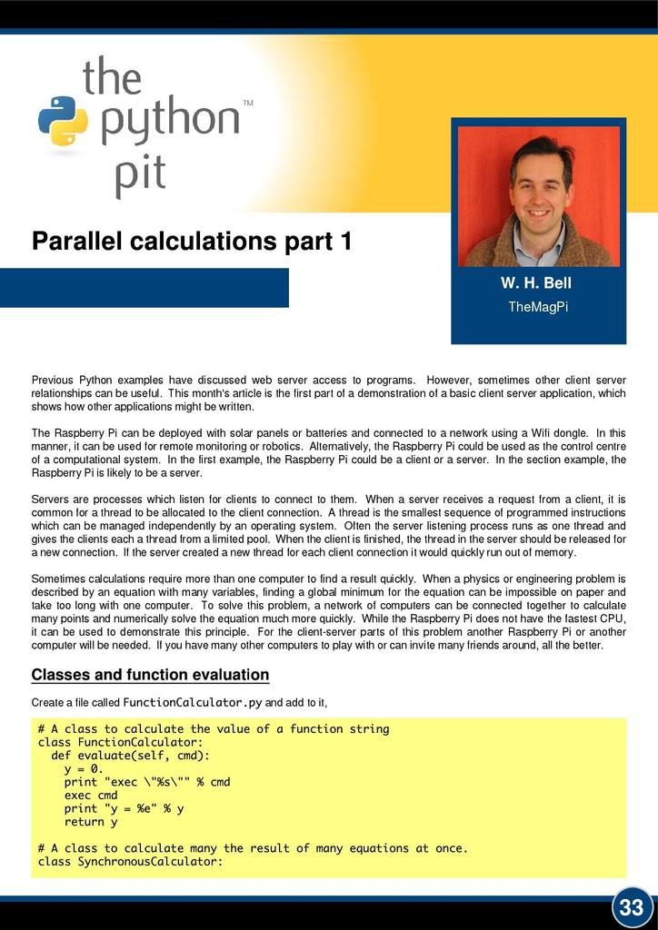 Parallel calculations | STEM