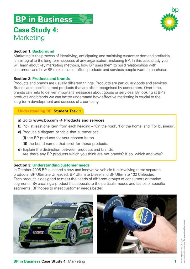 BP in Business Case Studies   STEM