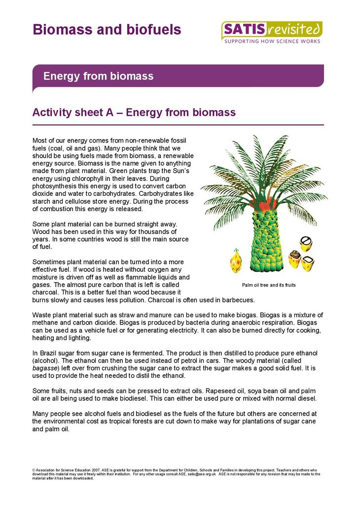 Biomass and Biofuels | STEM