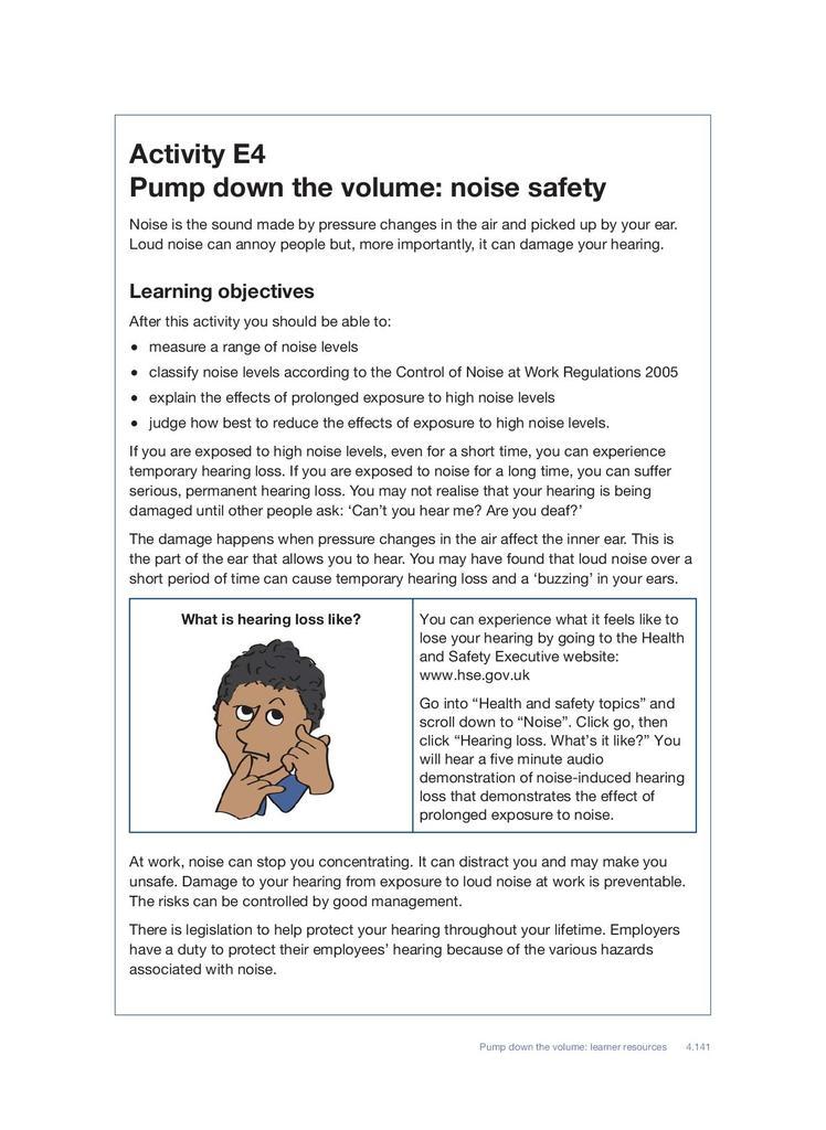 Noise Safety | STEM