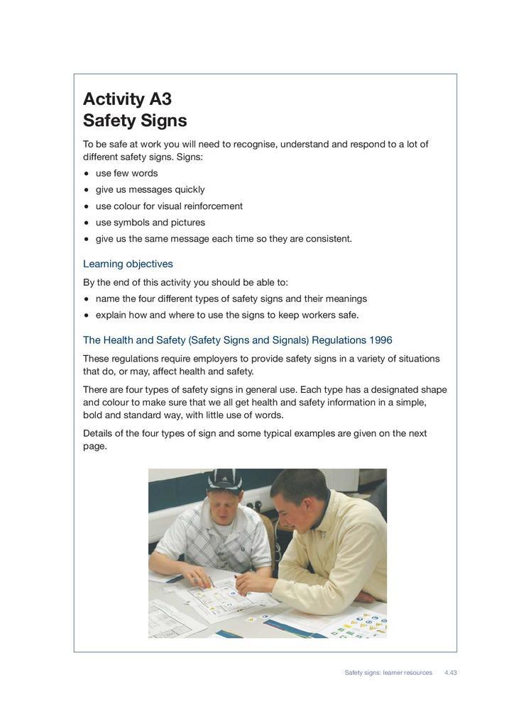 Safety Signs   STEM
