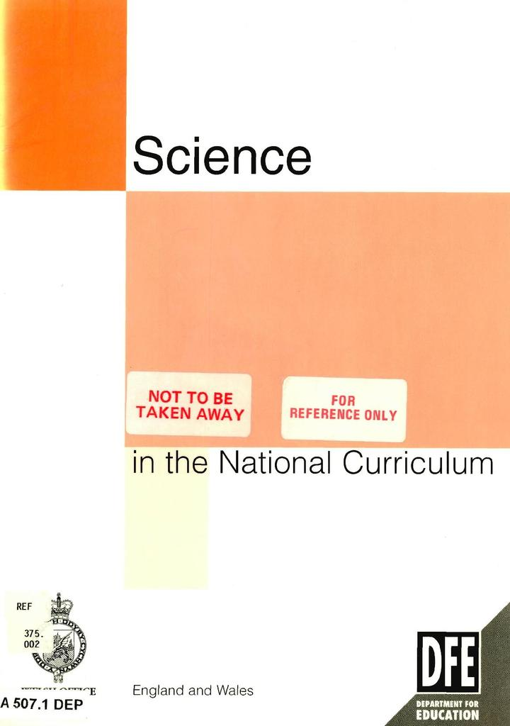 Science in the National Curriculum 1995 | STEM