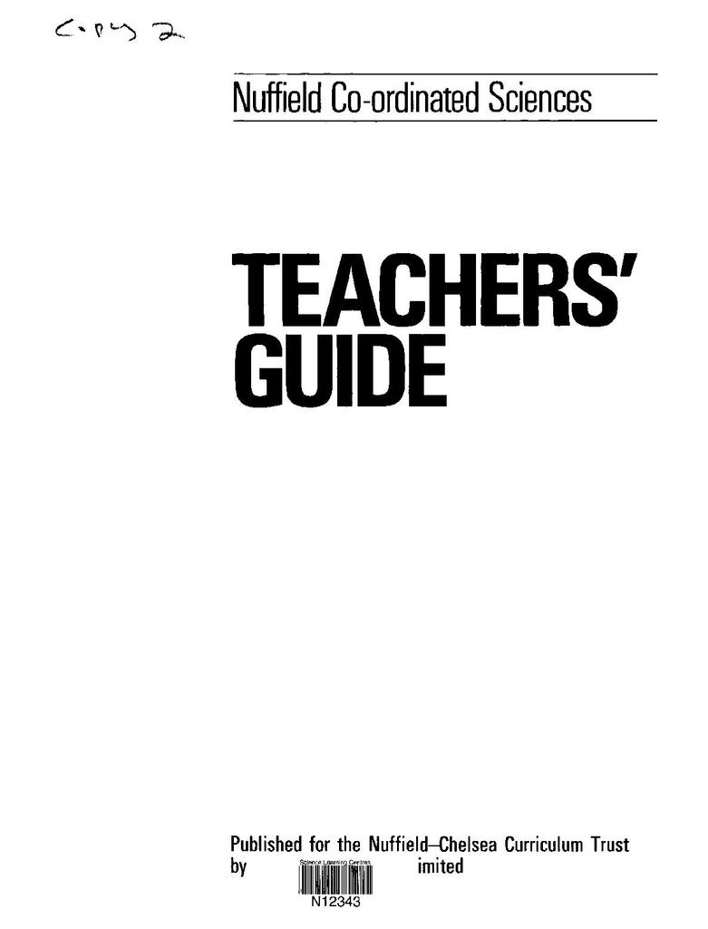 Nuffield Co-ordinated Sciences: Teachers' Guide for Biology   STEM
