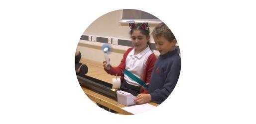 Children taking part in hands-on activity