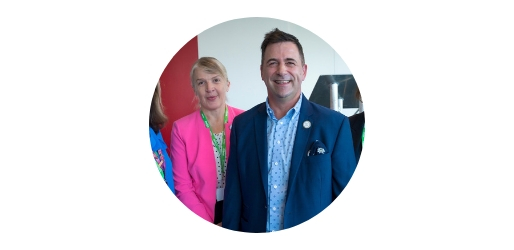 Juergen Maier, Chief Executive at Siemens UK with Yvonne Baker, Chief Executive at STEM Learning