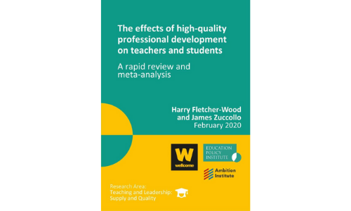 The effects of high quality professional development on teachers and students