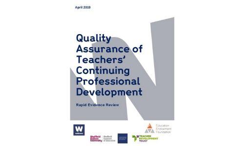 Quality Assurance of teachers' Continuing Professional Development