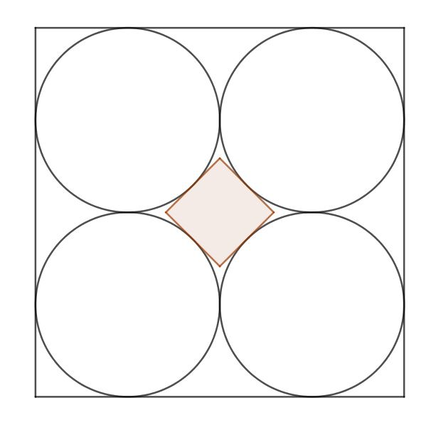 Square in circles